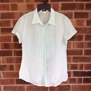 NWOT J. Crew pastel baby blue short sleeve top 10